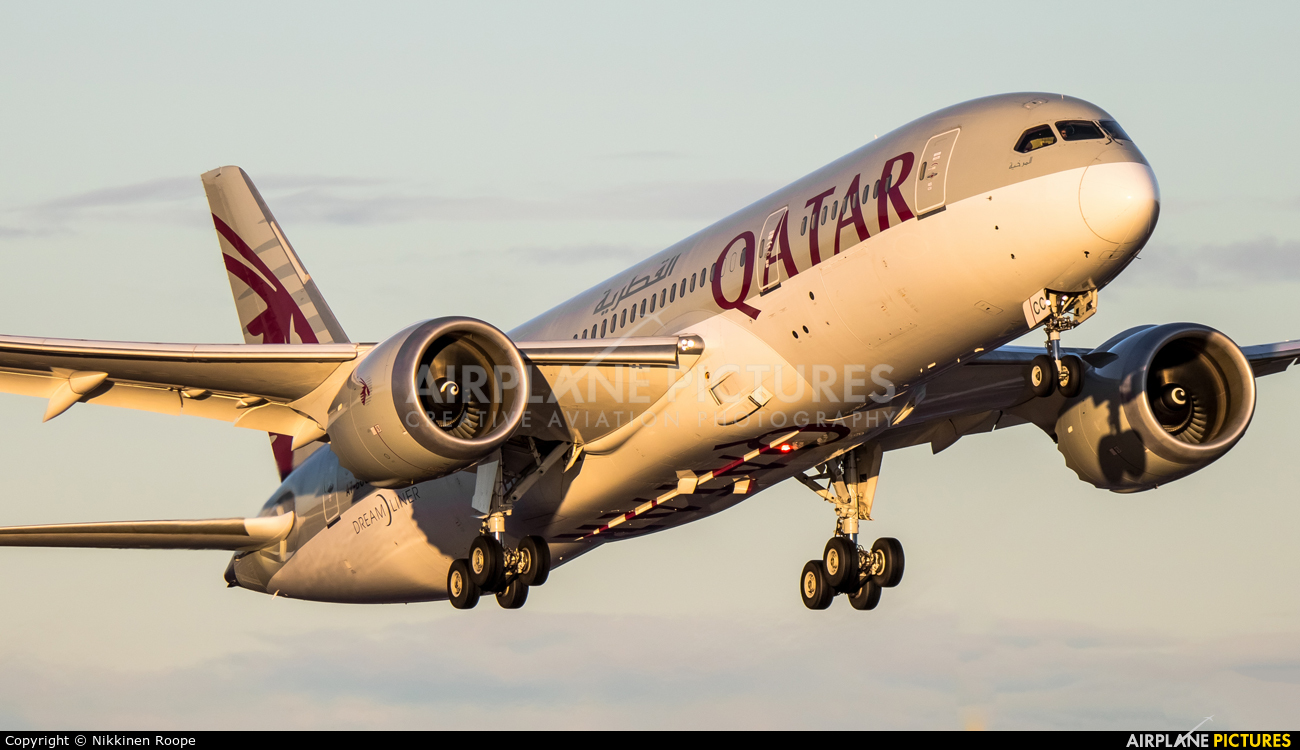 Qatar Airways A7-BCC aircraft at Helsinki - Vantaa