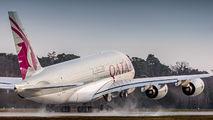 A7-API - Qatar Airways Airbus A380 aircraft