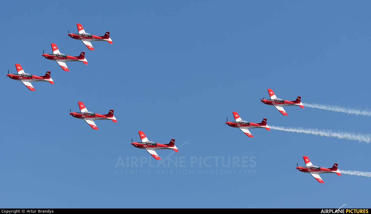 Switzerland - Air Force: PC-7 Team A-925 aircraft at Ostrava Mošnov