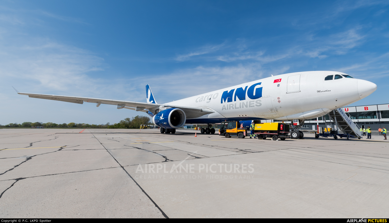 MNG Cargo TC-MCZ aircraft at Pardubice