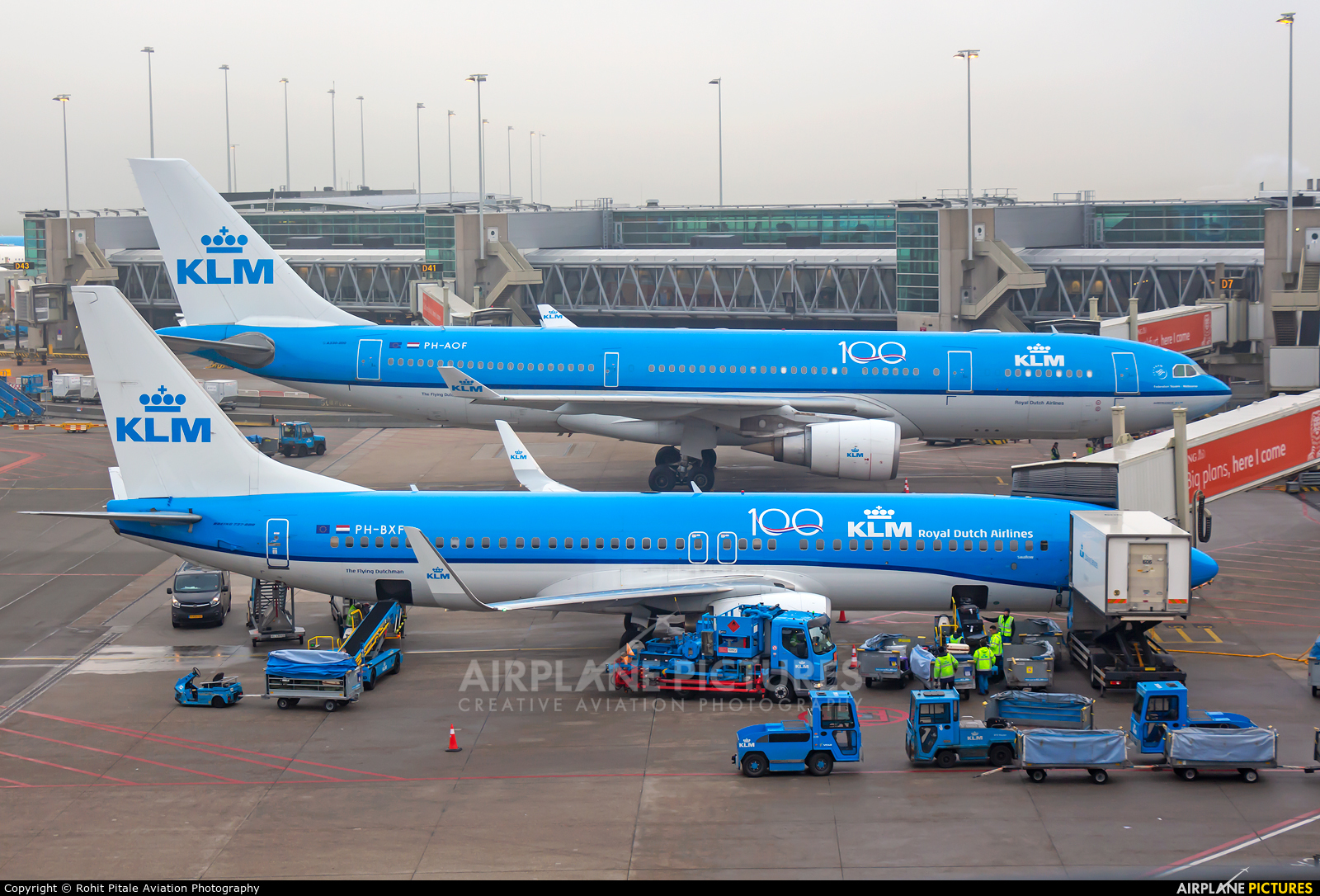 KLM EHAM aircraft at Amsterdam - Schiphol