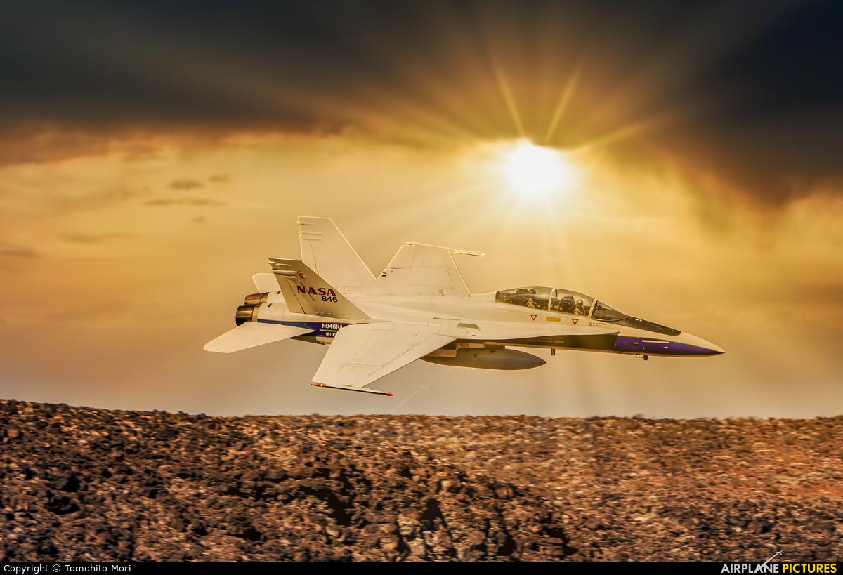 NASA N846NA aircraft at Death Valley - Furnace Creek