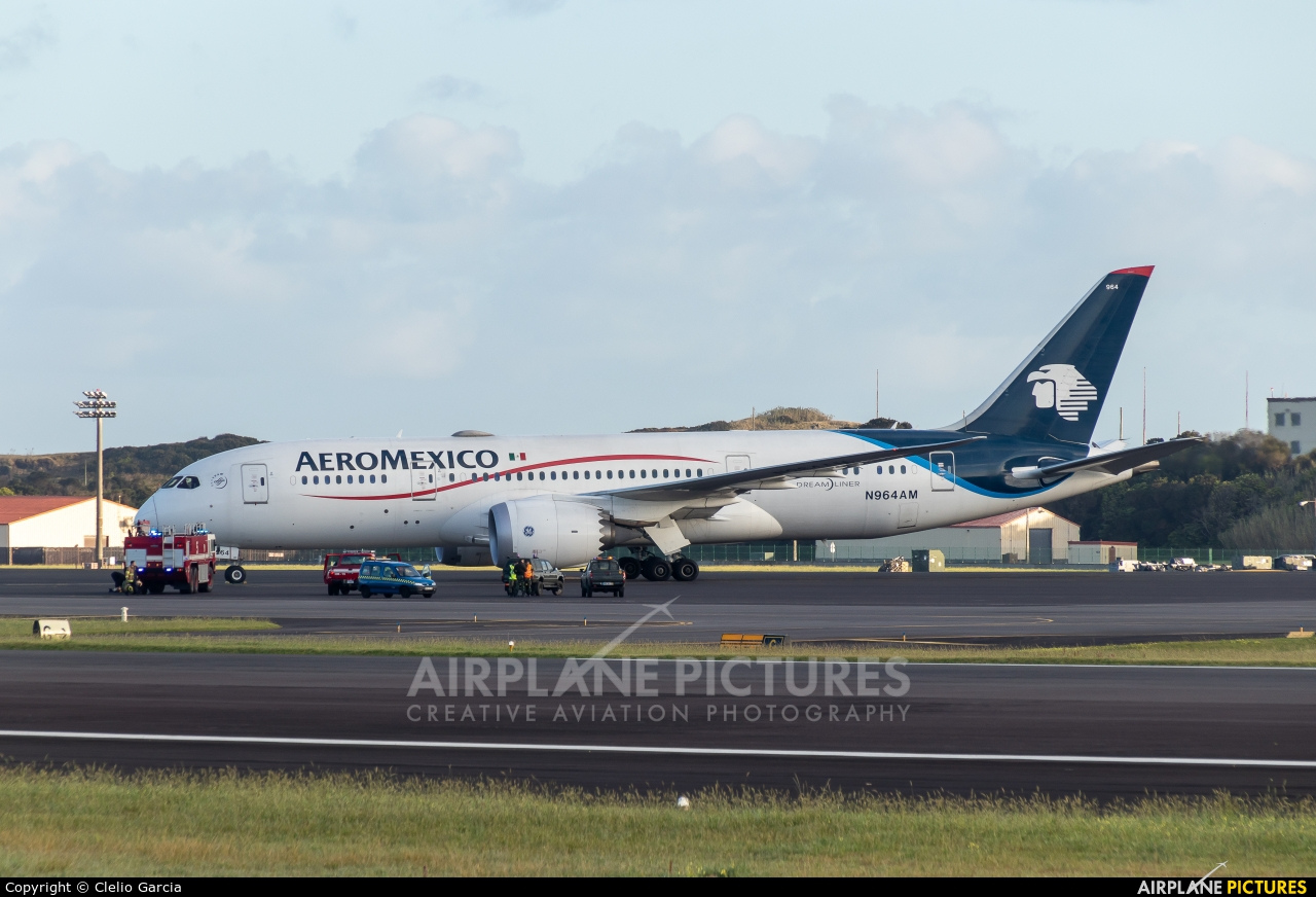 Aeromexico N964AM aircraft at Azores - Lajes