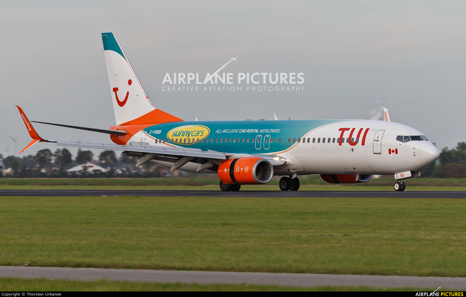 TUI Airways C-FDBD aircraft at Amsterdam - Schiphol