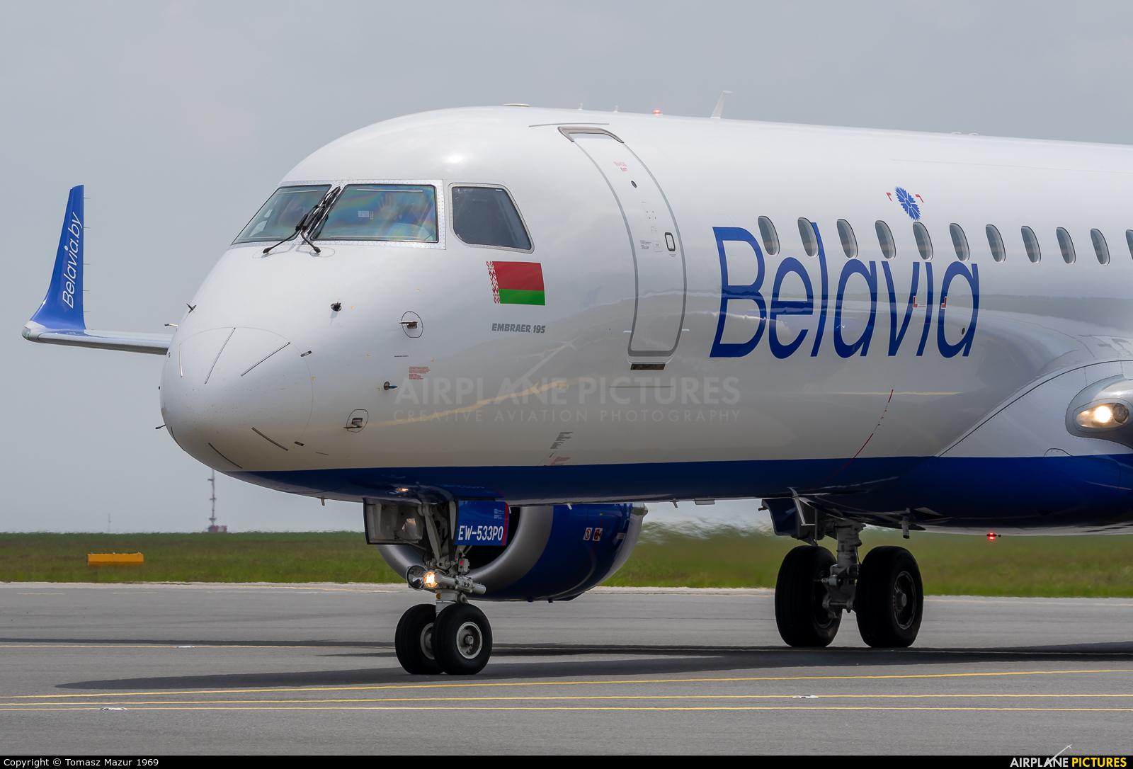 Belavia EW-533PO aircraft at Prague - Václav Havel