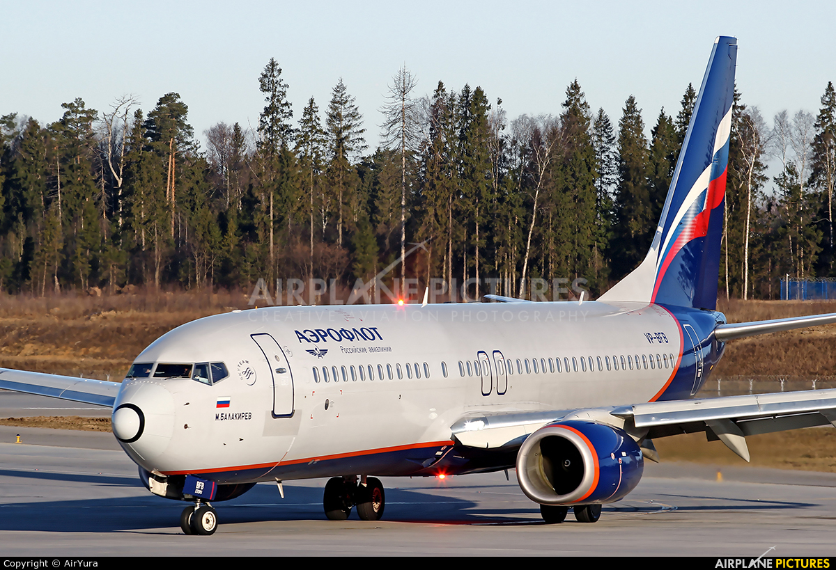 Aeroflot VP-BFB aircraft at Moscow - Sheremetyevo