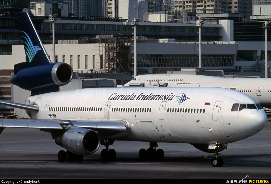 Garuda Indonesia PK-GIB aircraft at HKG - Kai Tak Intl CLOSED