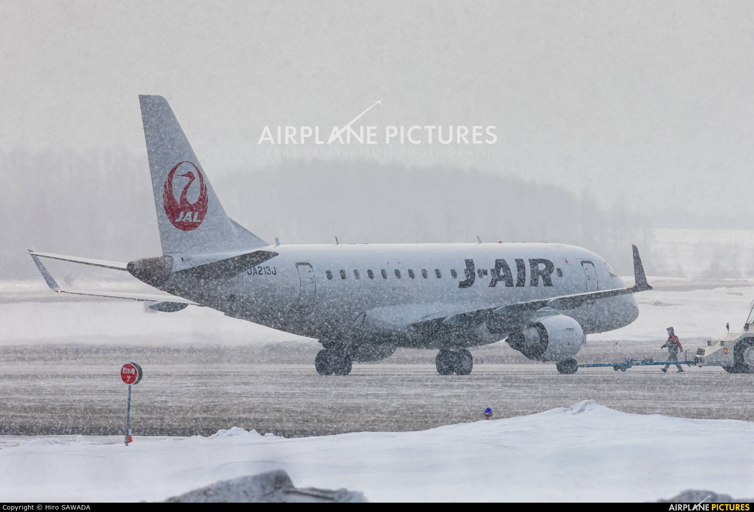 J-Air JA213J aircraft at Memanbetsu