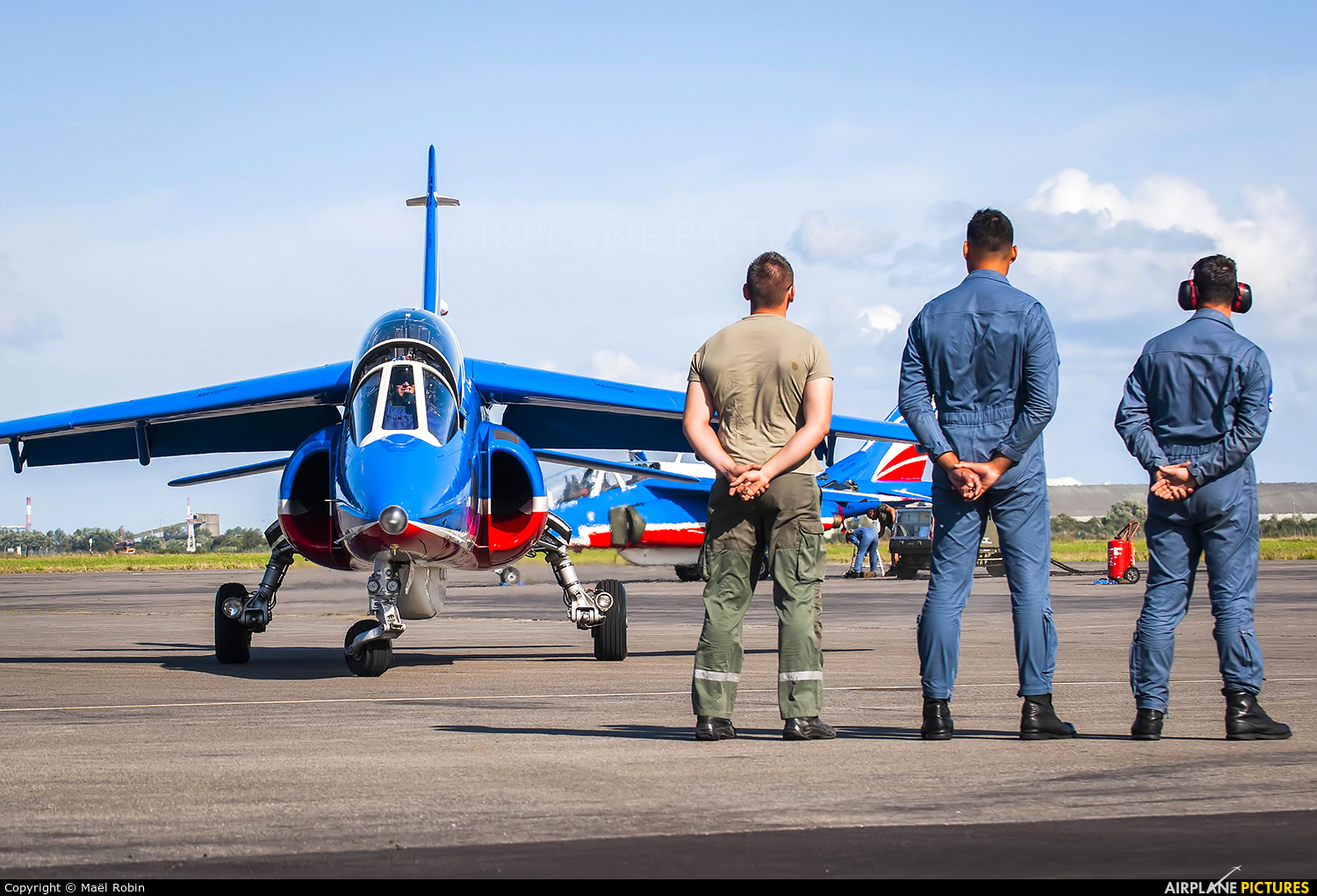 "France - Air Force ""Patrouille de France"" E45 aircraft at Off Airport - France"