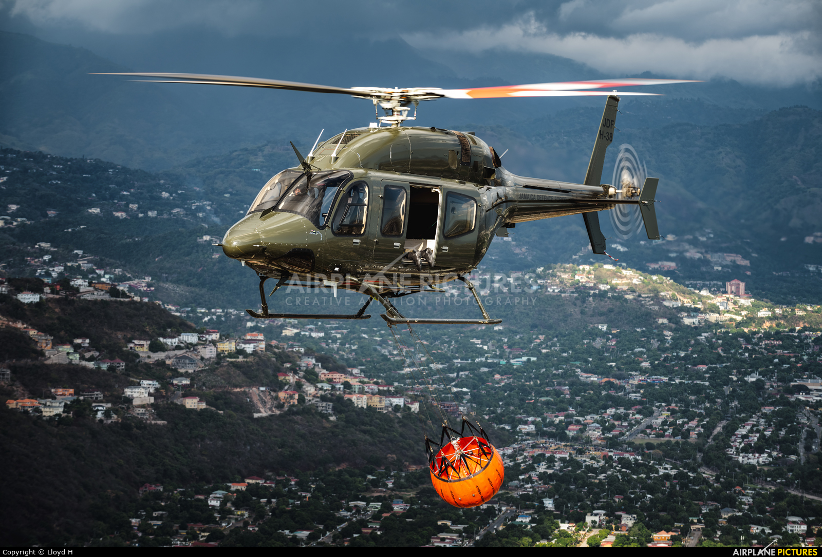 Jamaica - Jamaica Defence Force Air Wing JDFH-38 aircraft at In Flight