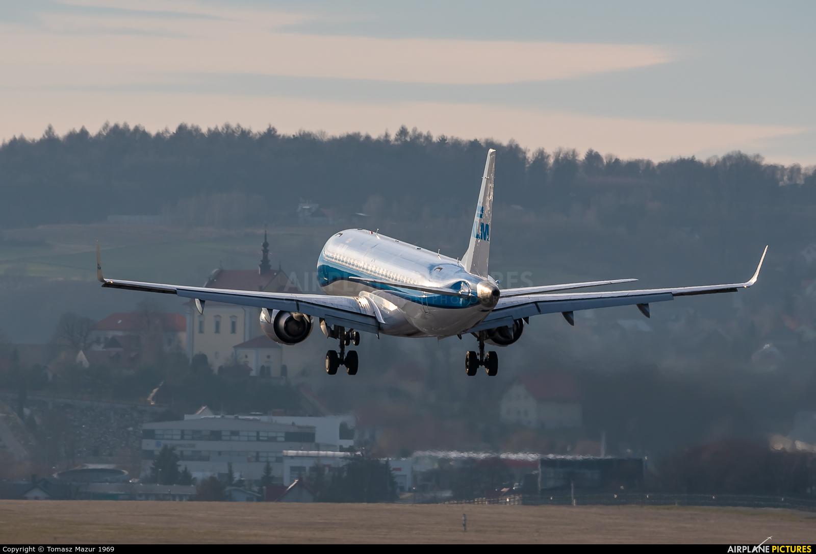 KLM Cityhopper PH-EXV aircraft at Kraków - John Paul II Intl