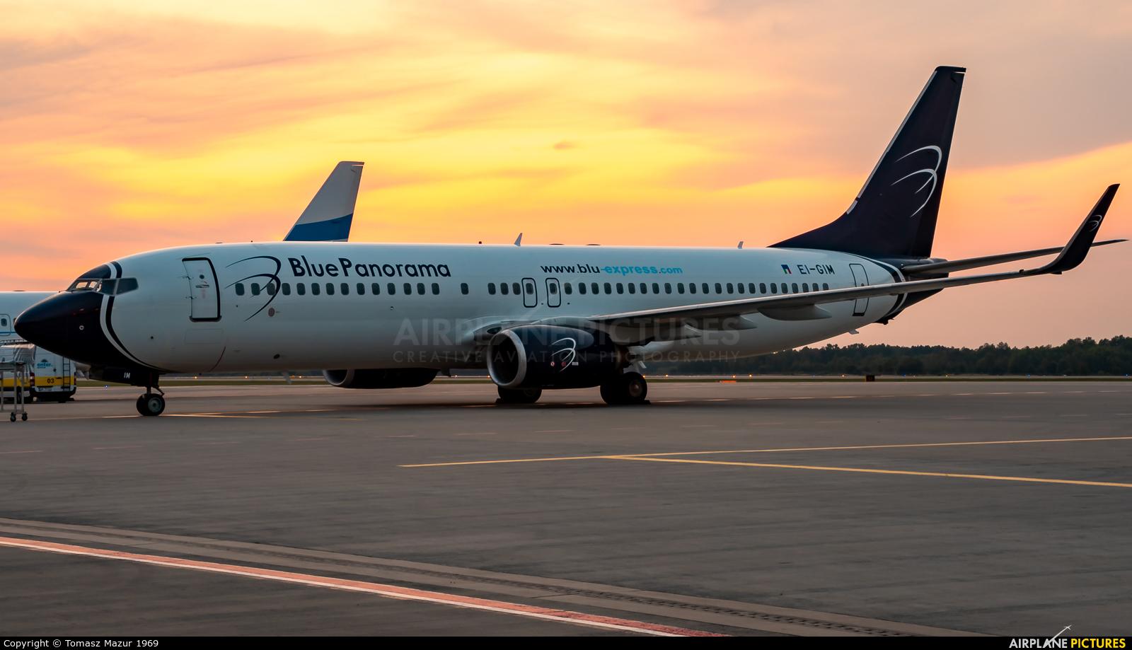 Blue Panorama Airlines EI-GIM aircraft at Katowice - Pyrzowice