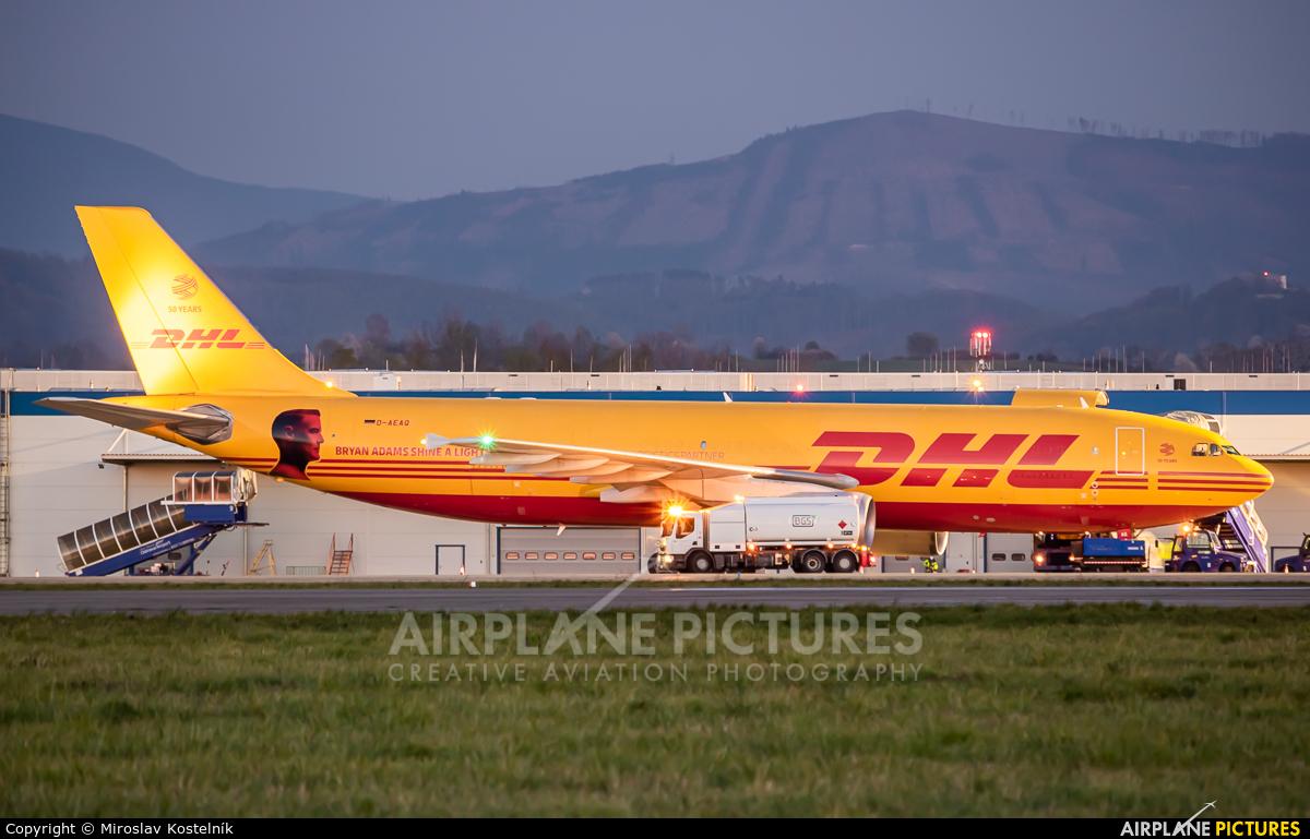DHL Cargo D-AEAQ aircraft at Ostrava Mošnov