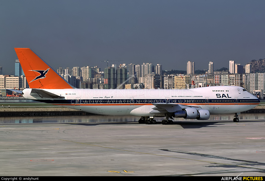 South African Airways ZS-SAO aircraft at HKG - Kai Tak Intl CLOSED