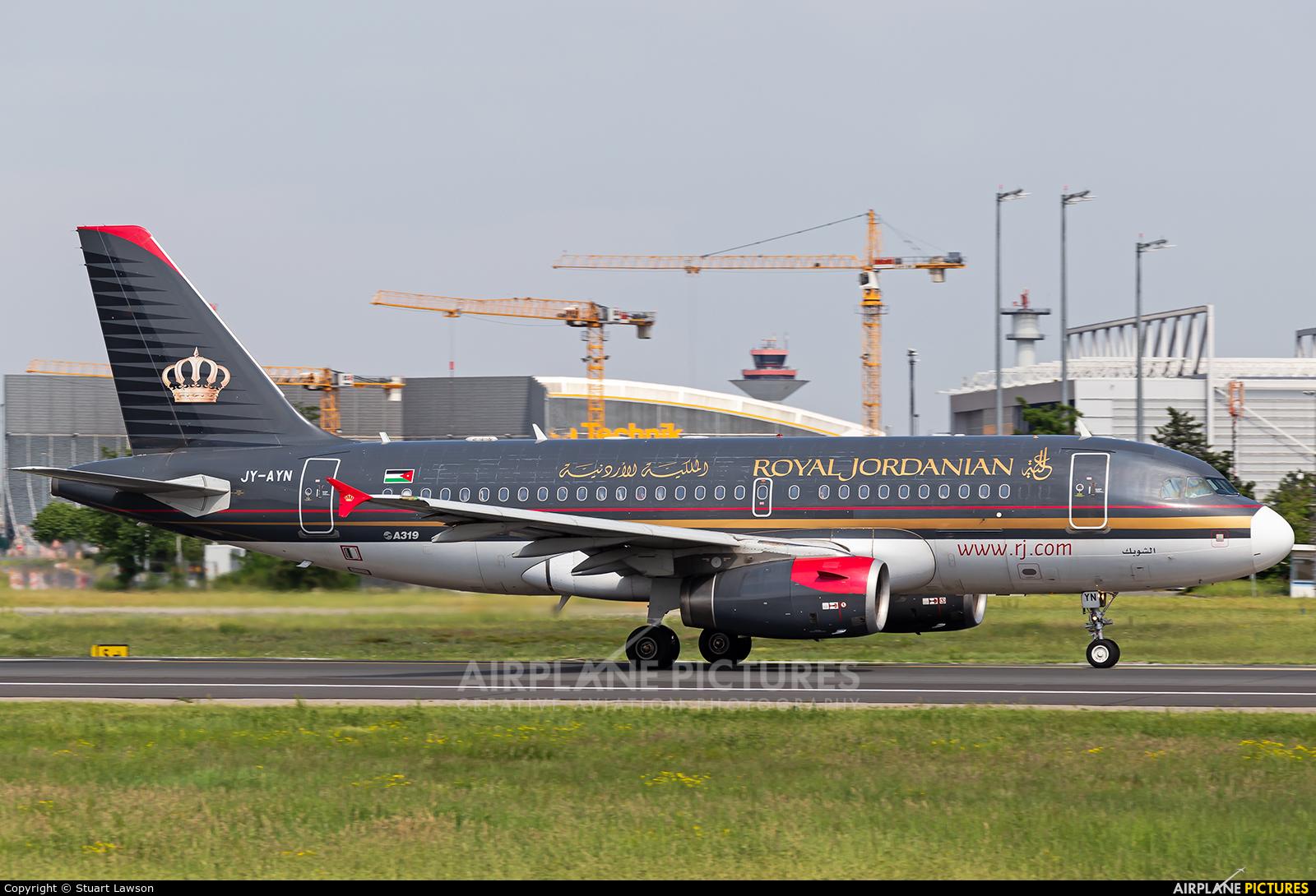Royal Jordanian JY-AYN aircraft at Frankfurt
