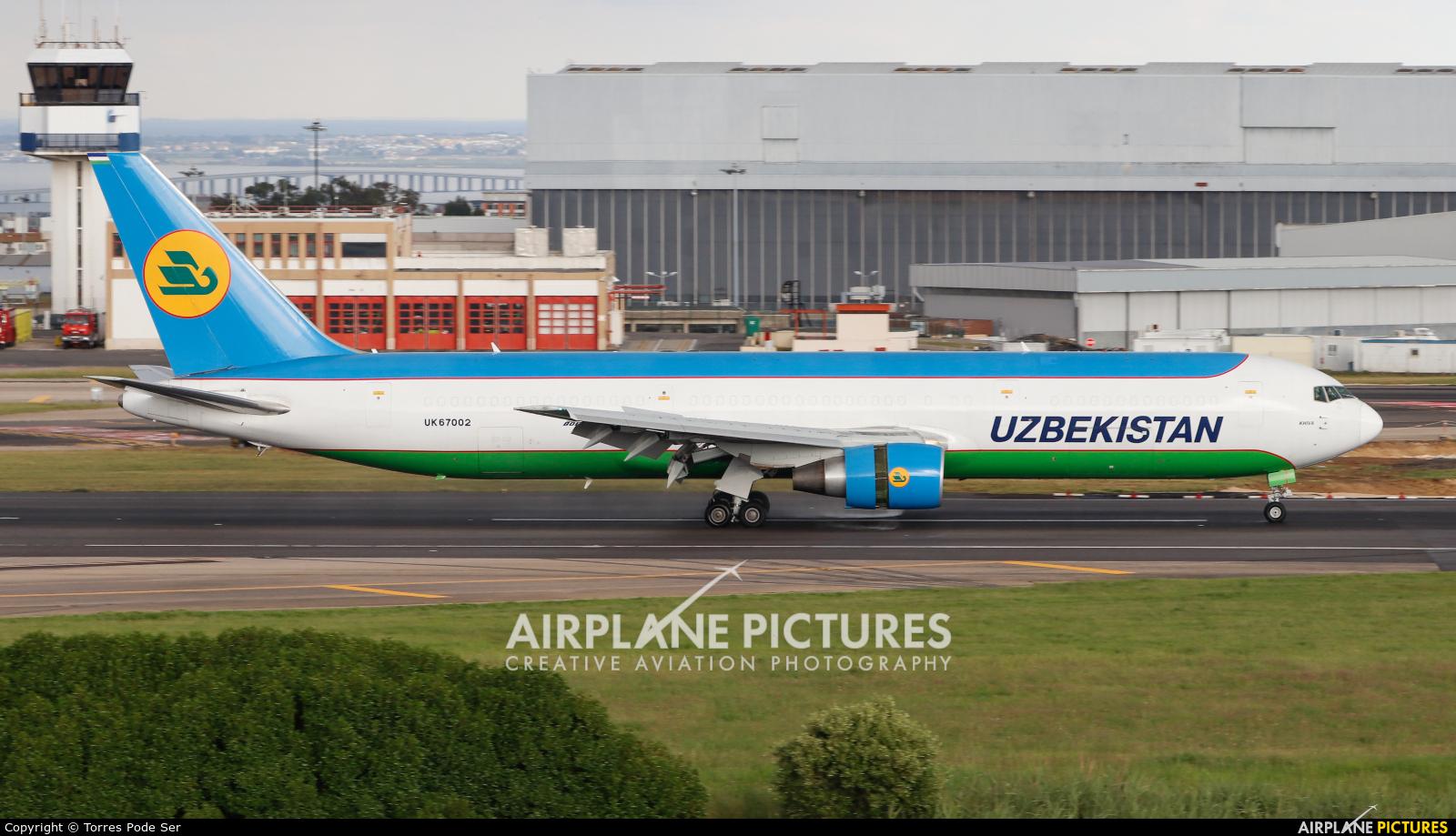 Uzbekistan Airways UK67002 aircraft at Lisbon