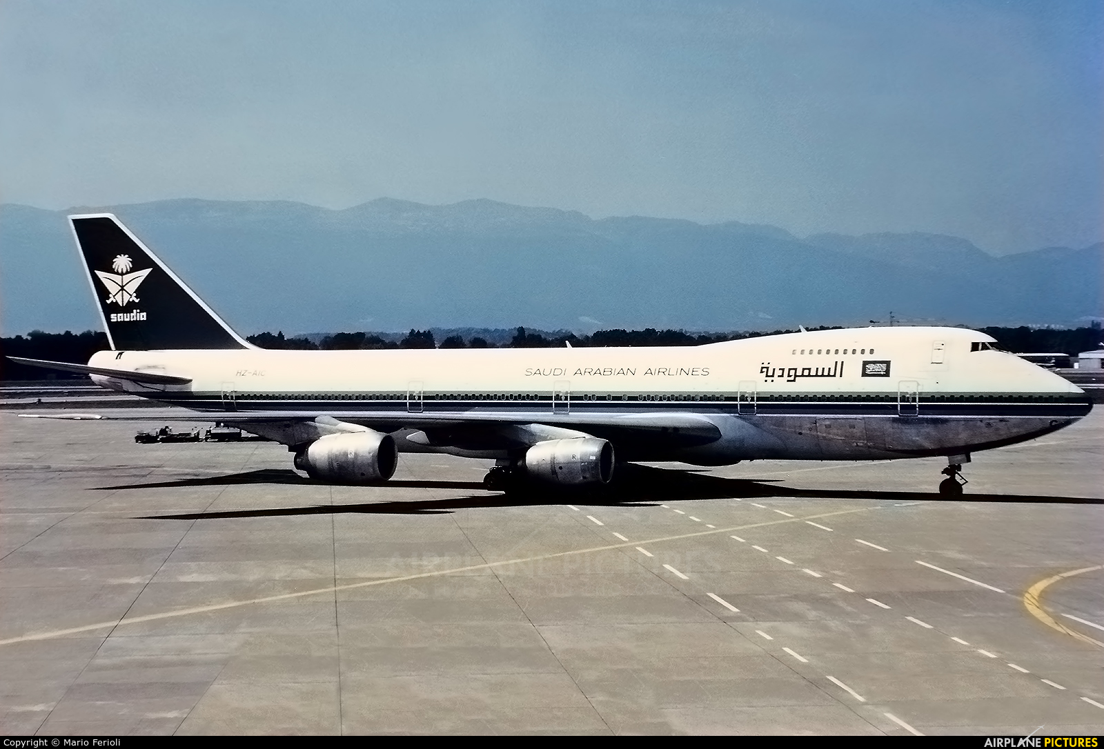 Saudi Arabian Airlines HZ-AIC aircraft at Milan - Malpensa