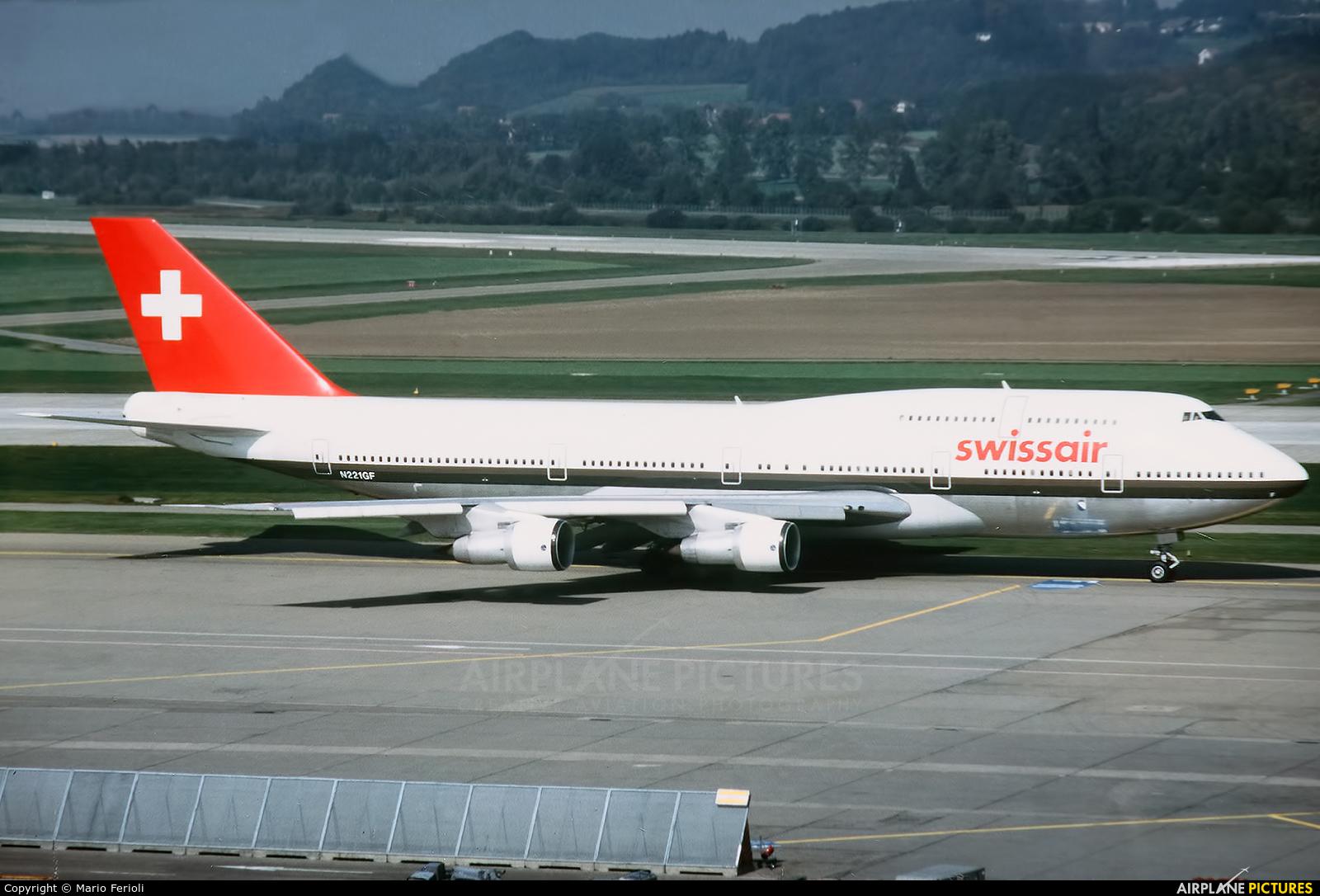 Swissair N221GF aircraft at Zurich