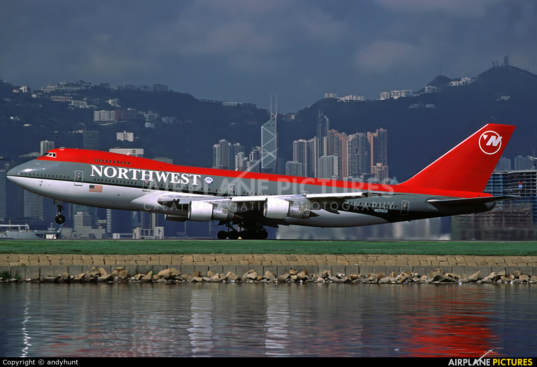 Northwest Airlines N626US aircraft at HKG - Kai Tak Intl CLOSED