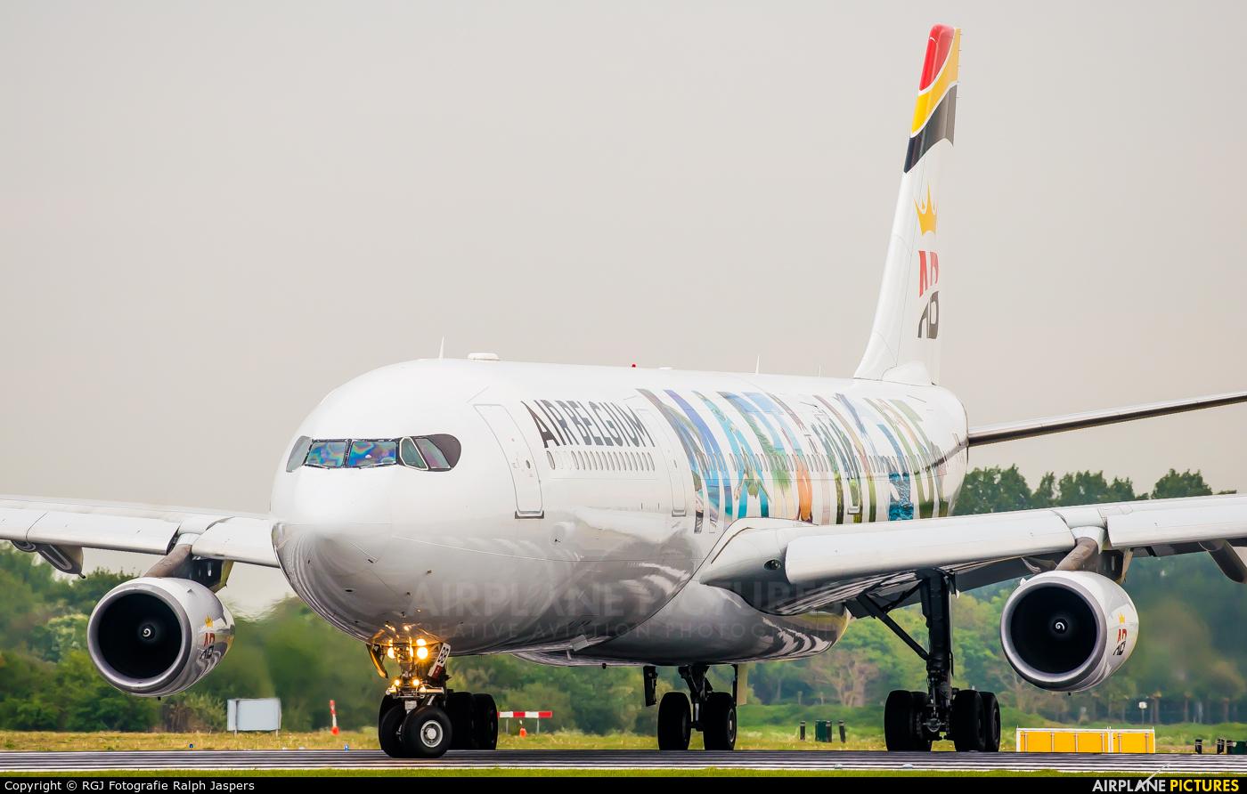 Air Belgium OO-ABB aircraft at Amsterdam - Schiphol