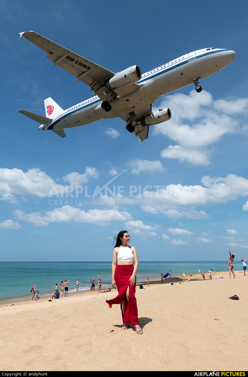 Air China B-6773 aircraft at Phuket