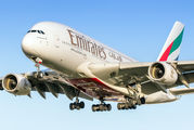 A6-EEX - Emirates Airlines Airbus A380 aircraft