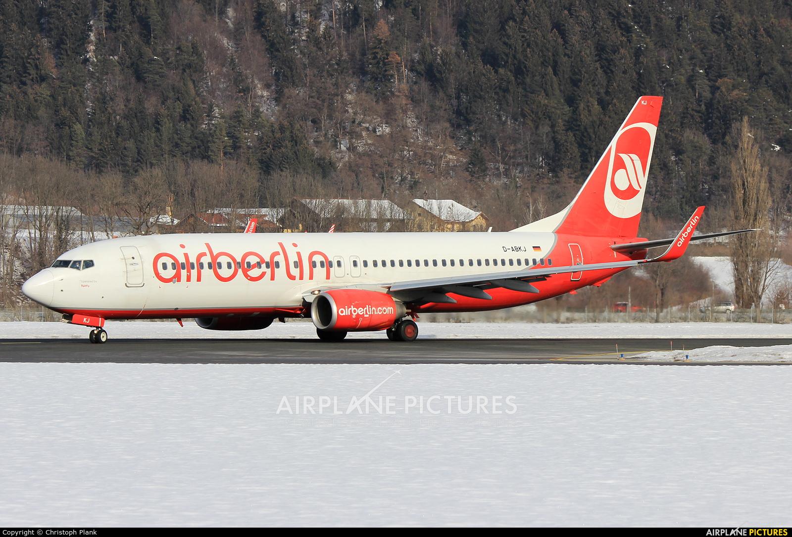 TUIfly D-ABKJ aircraft at Innsbruck