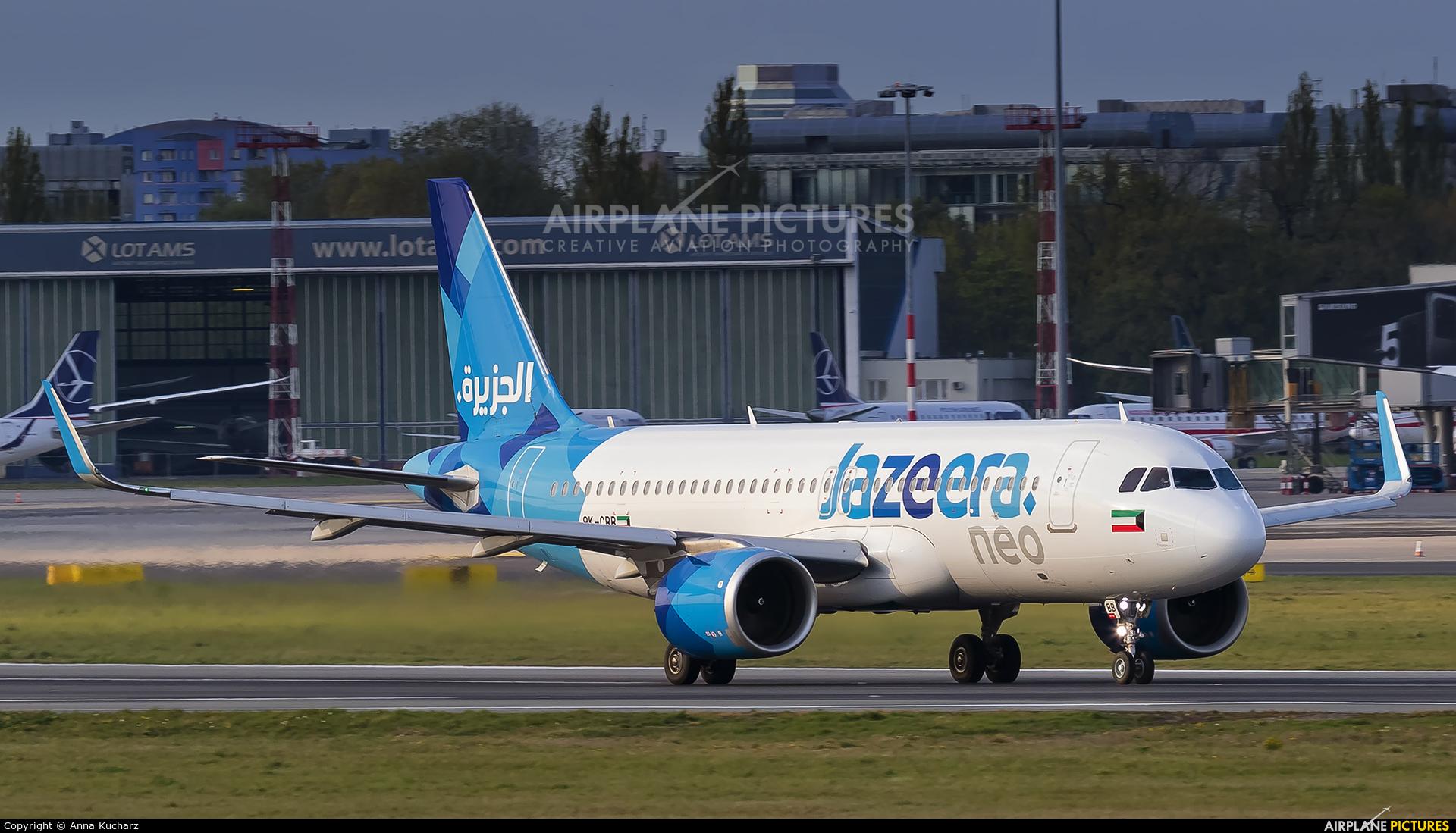 Jazeera Airways 9K-CBB aircraft at Warsaw - Frederic Chopin