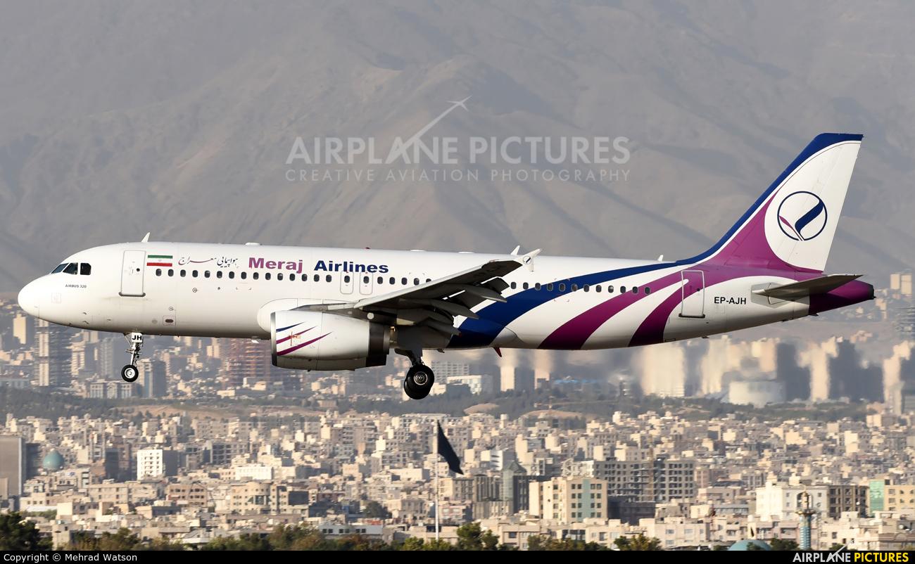 Meraj Airlines EP-AJH aircraft at Tehran - Mehrabad Intl