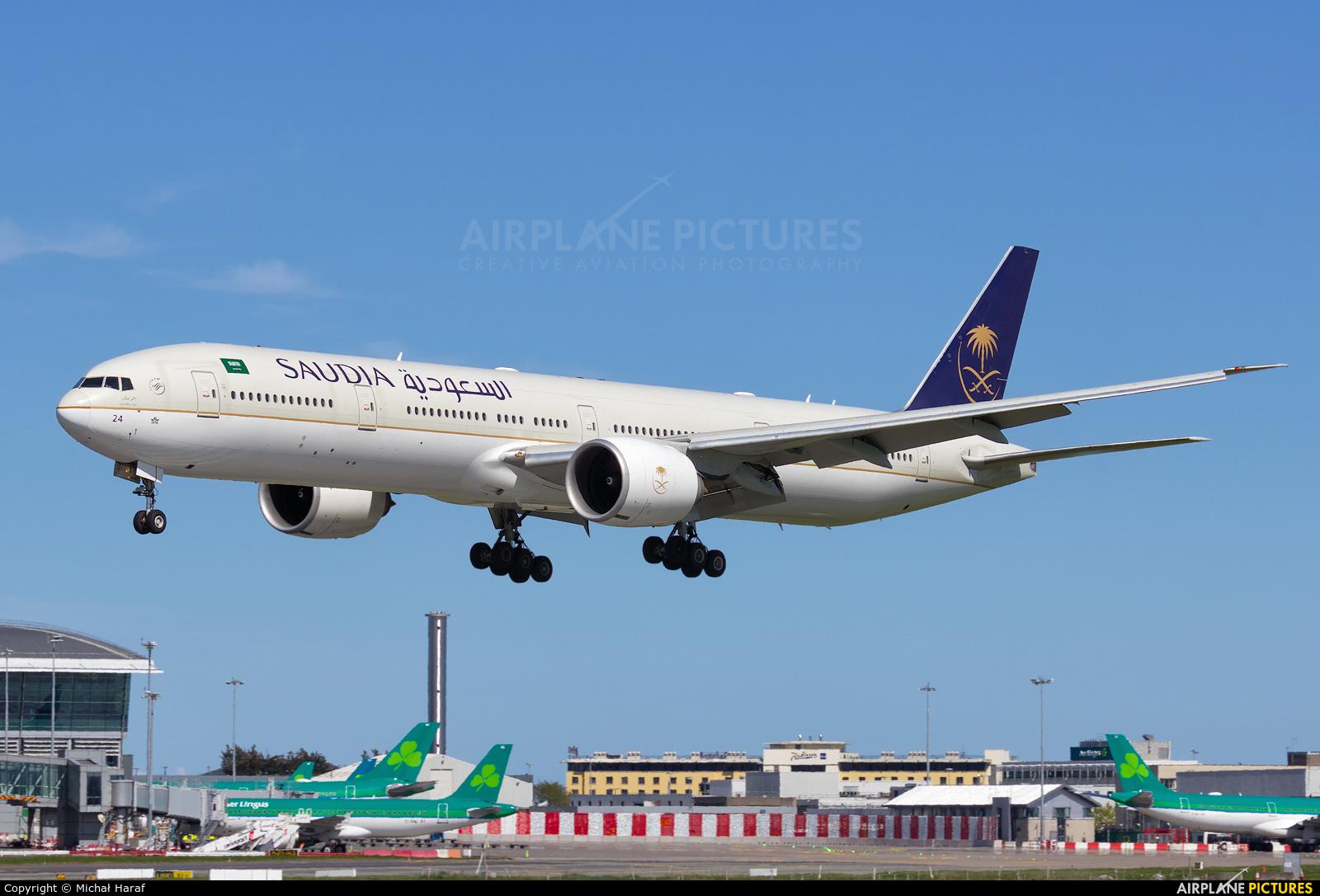 Saudi Arabian Airlines HZ-AK24 aircraft at Dublin