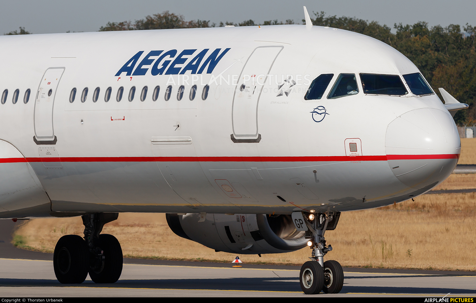 Aegean Airlines SX-DGP aircraft at Frankfurt