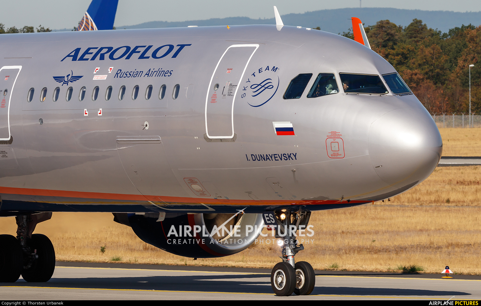 Aeroflot VP-BES aircraft at Frankfurt