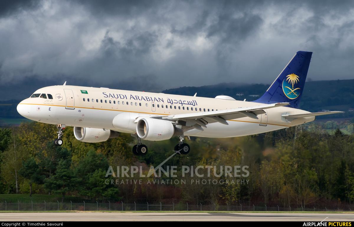 Saudi Arabian Airlines HZ-ASE aircraft at Geneva Intl