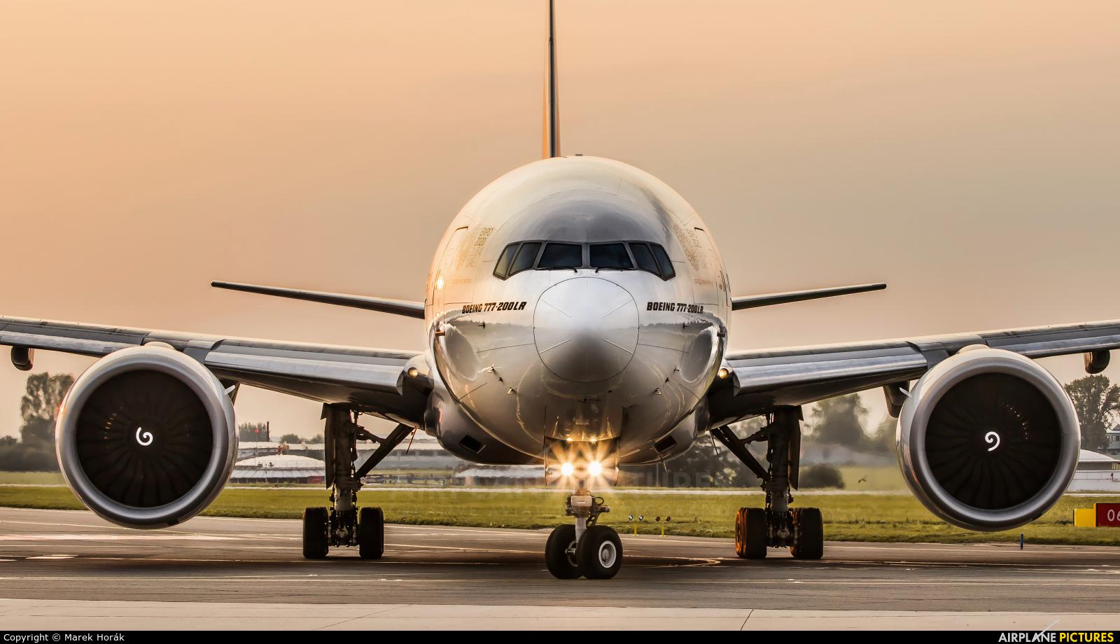 Emirates Airlines A6-EWF aircraft at Prague - Václav Havel