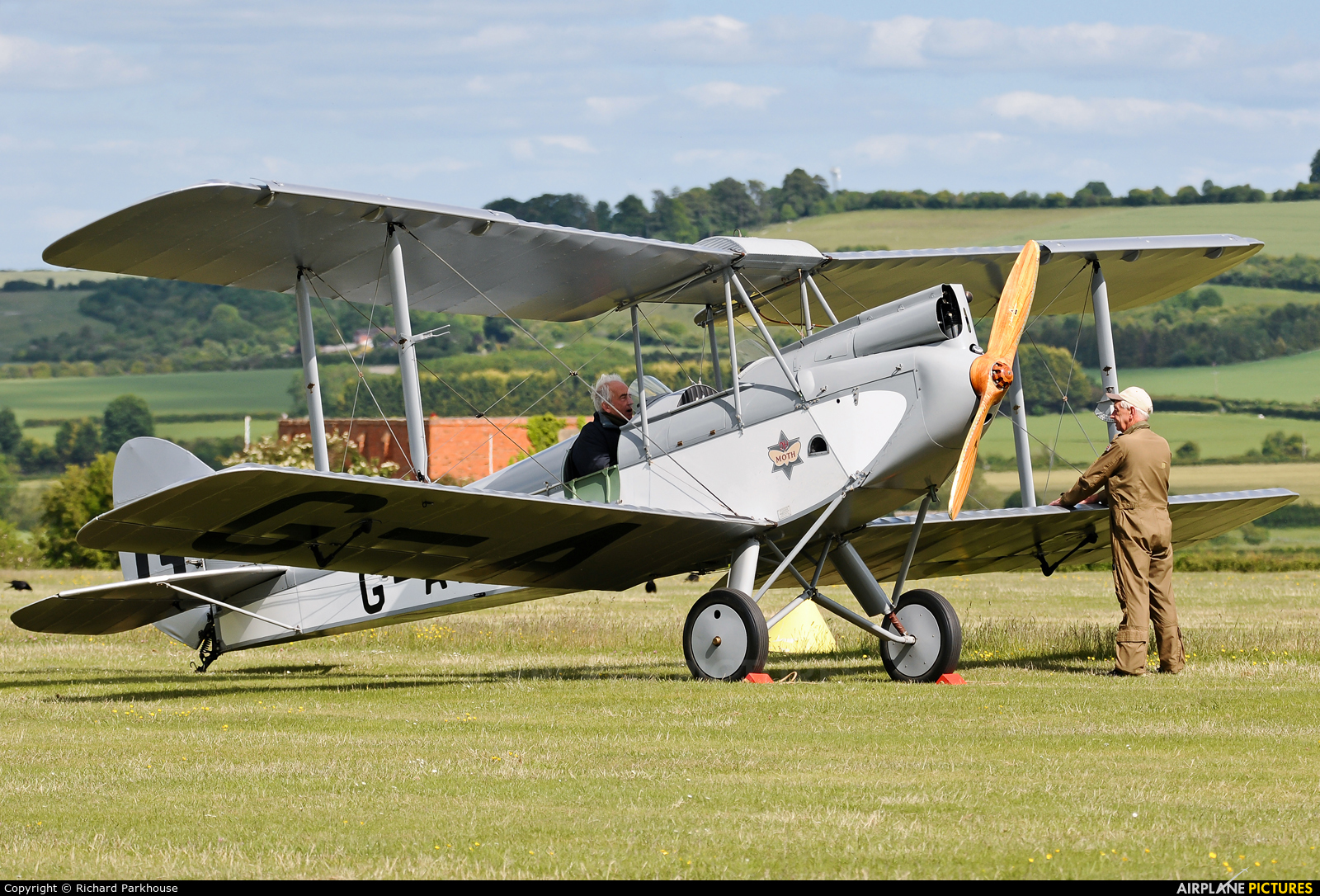 Private G-AAJT aircraft at Old Sarum