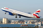 G-EUYC - British Airways Airbus A320 aircraft