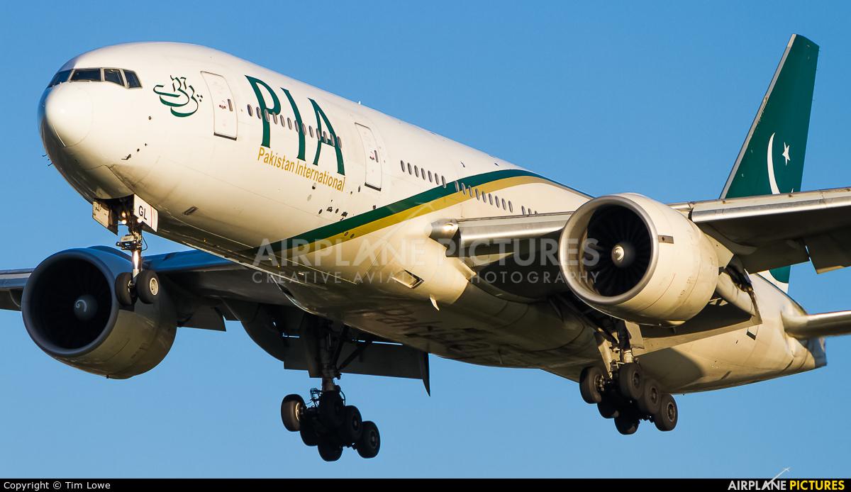 PIA - Pakistan International Airlines AP-BGL aircraft at London - Heathrow