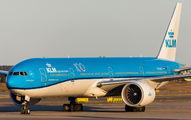 KLM's Triple-Seven visited Helsinki title=