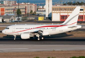 LX-LTI - Global Jet Luxembourg Airbus A318 CJ