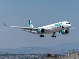 First visit of Evelop Airbus A350 to Guatemala title=