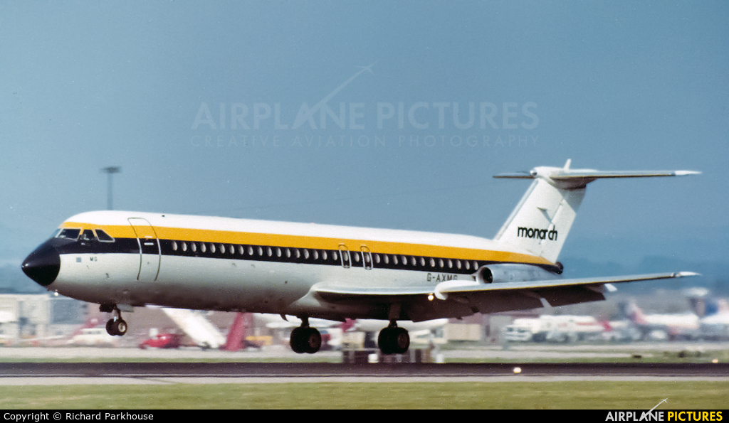 Monarch Airlines G-AXMG aircraft at London - Gatwick