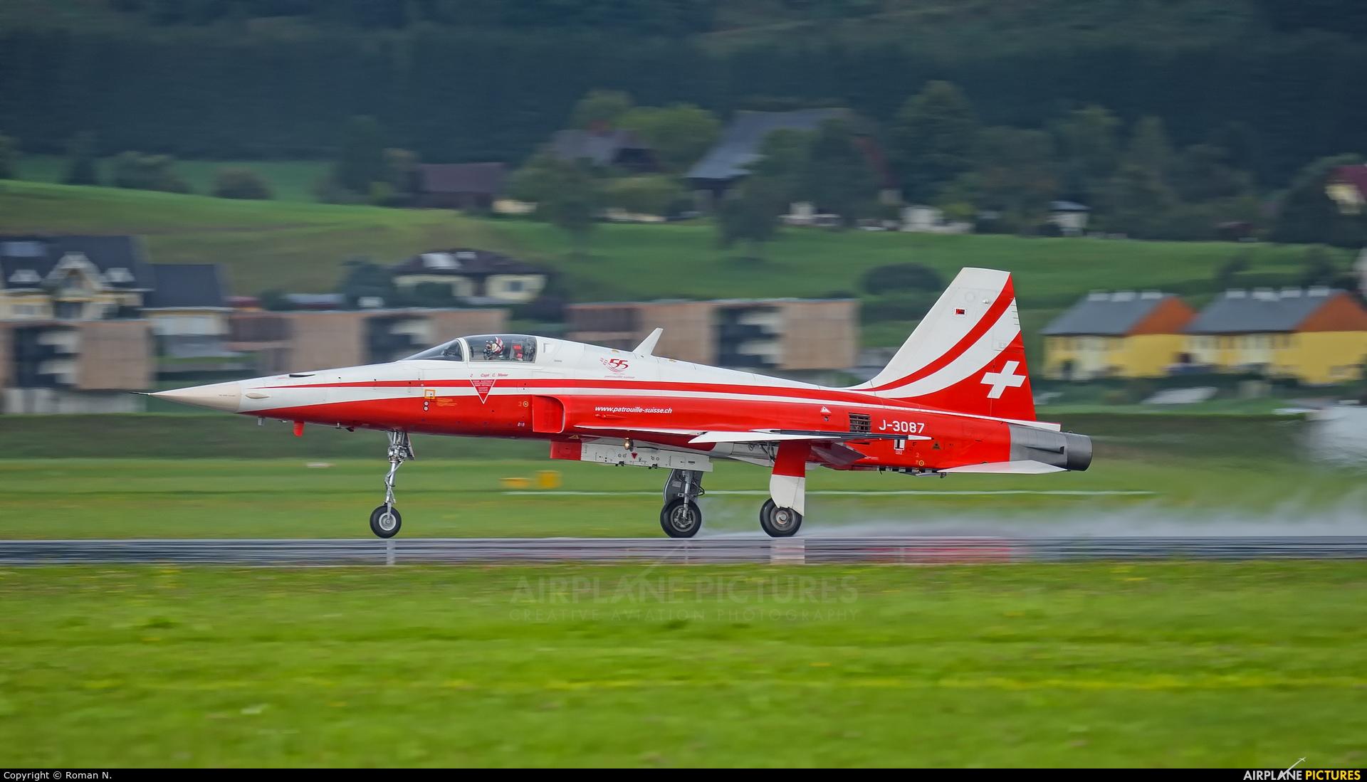 Switzerland - Air Force: Patrouille Suisse J-3087 aircraft at Zeltweg