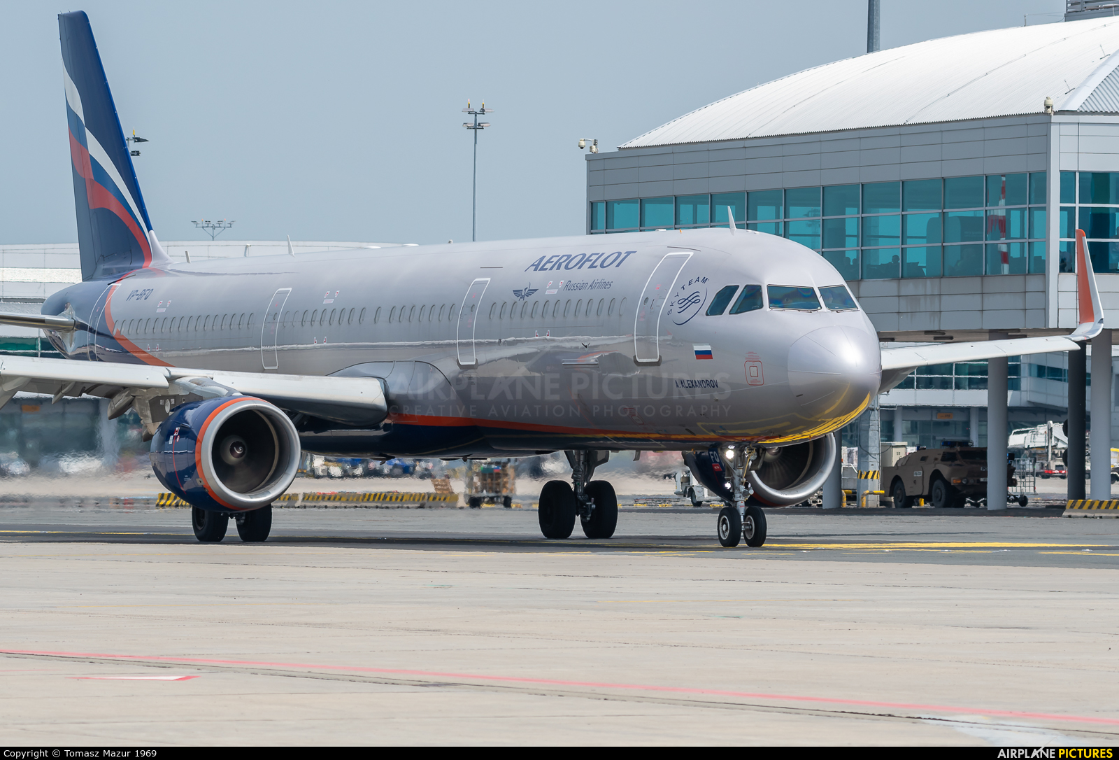 Aeroflot VP-BFQ aircraft at Prague - Václav Havel