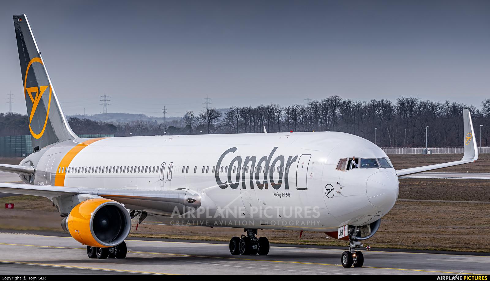Condor D-ABUH aircraft at Frankfurt