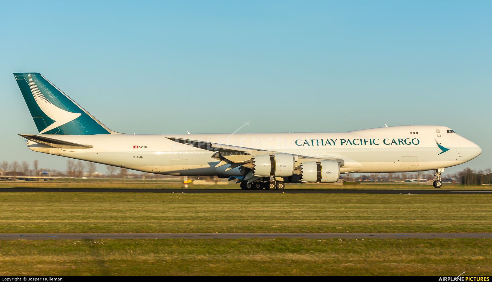 Cathay Pacific Cargo B-LJL aircraft at Amsterdam - Schiphol