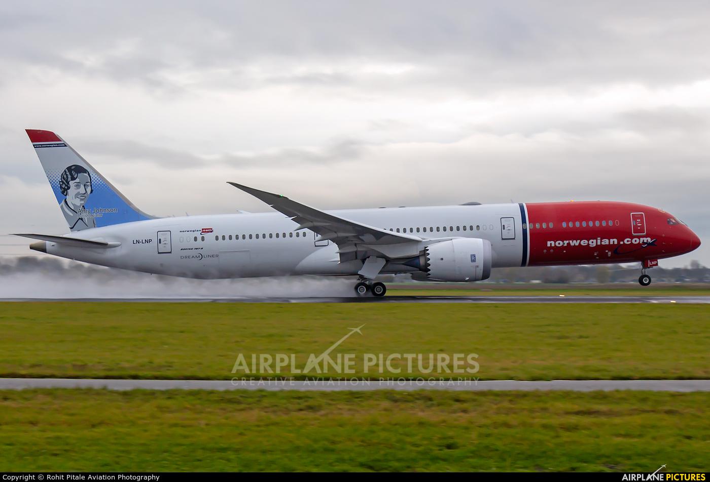 Norwegian Long Haul LN-LNP aircraft at Amsterdam - Schiphol