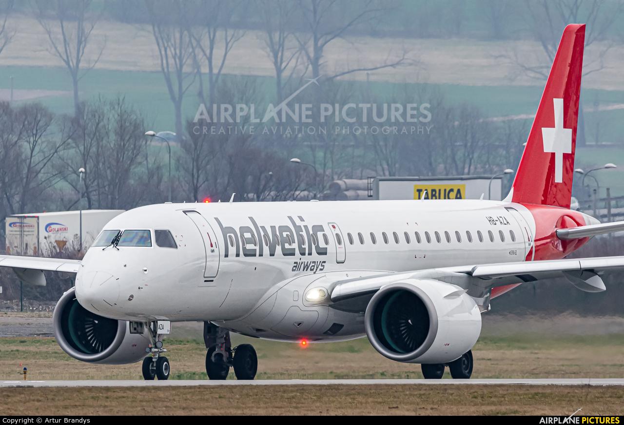 Helvetic Airways HB-AZA aircraft at Kraków - John Paul II Intl