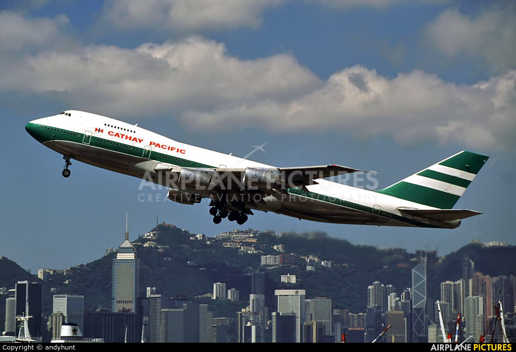 Cathay Pacific VR-HIA aircraft at HKG - Kai Tak Intl CLOSED