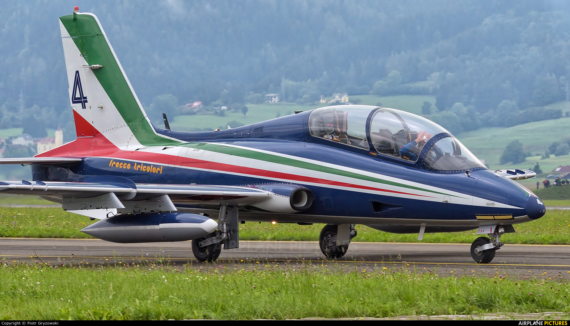 """Italy - Air Force """"Frecce Tricolori"""" MM54514 aircraft at Zeltweg"""