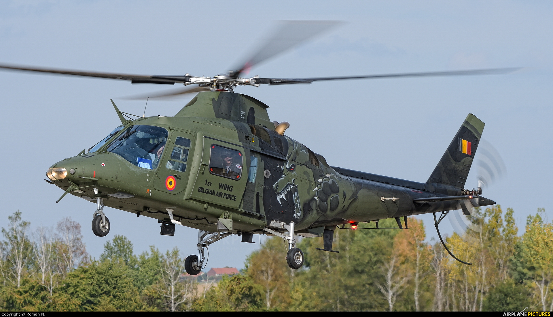 Belgium - Air Force H-29 aircraft at Hradec Králové